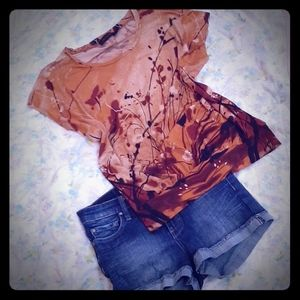 Butterfly sunset blouse